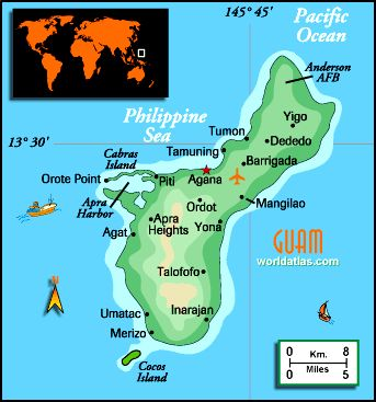 Guam, because of our awesome friends and neighbors from there...