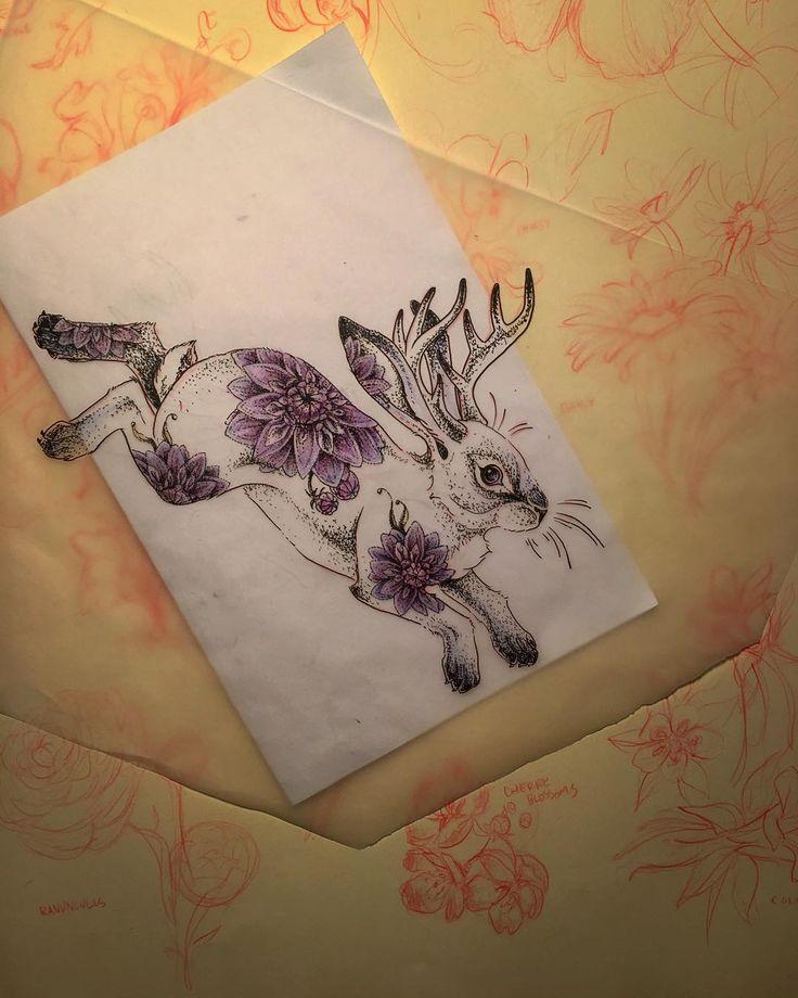 """""""Little Dahlia Jackalope @knoteyestudio"""""""