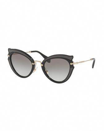 86b76fe62fc9 Gradient Cat-Eye Sunglasses by Miu Miu at Neiman Marcus.  MiuMiu ...