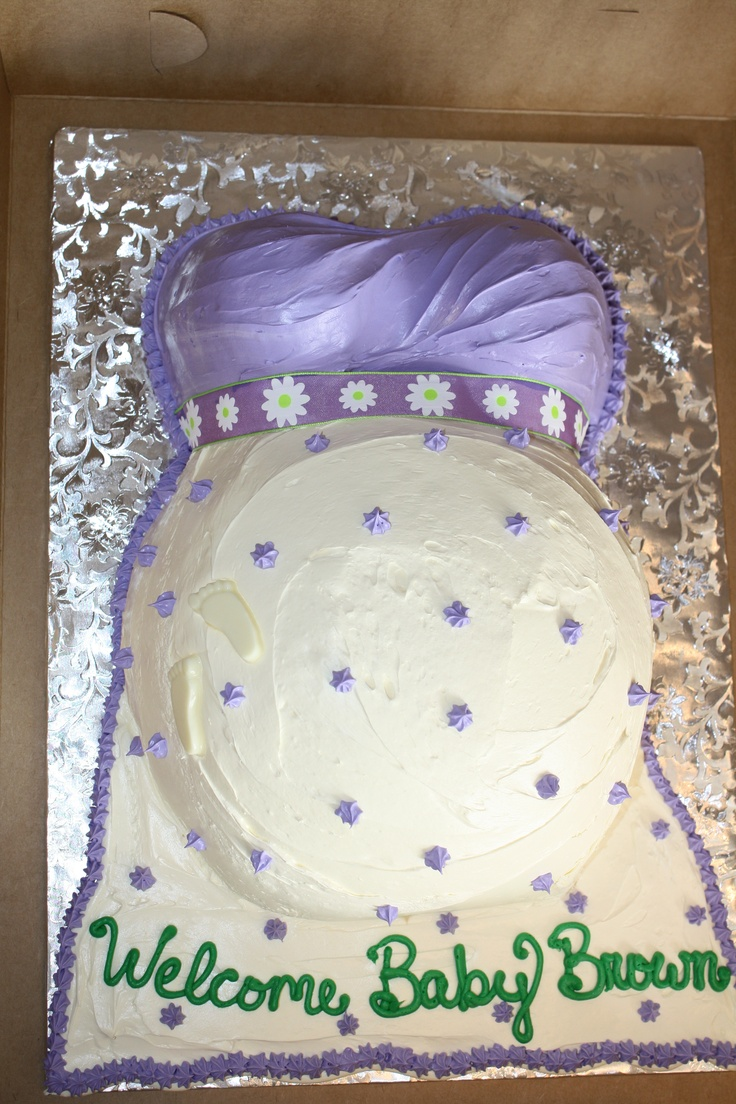 Baby Bump Cake No Fondant Made By Cupcake Bliss Cakes