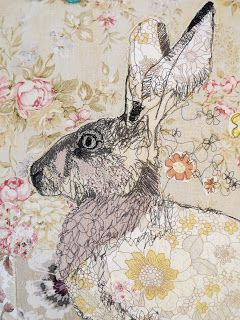 The Bloggings Of Mrs Bertimus: Freestyle Machine Embroidery - Rabbit