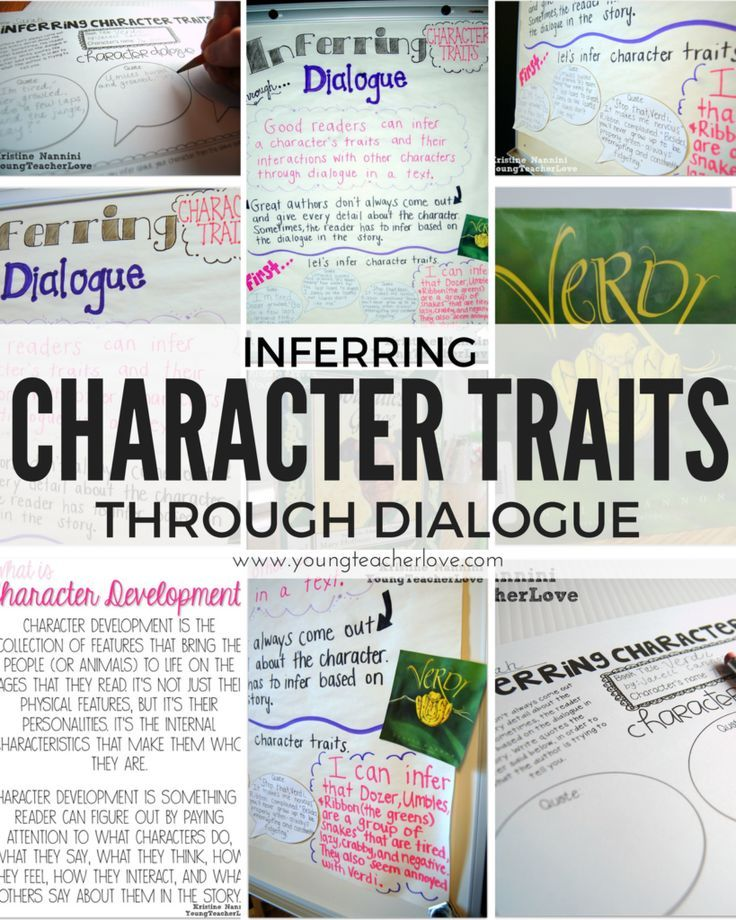 Inferring Character Traits Through Dialogue (Plus a Free Graphic Organizer) - Young Teacher Love by Kristine Nannini