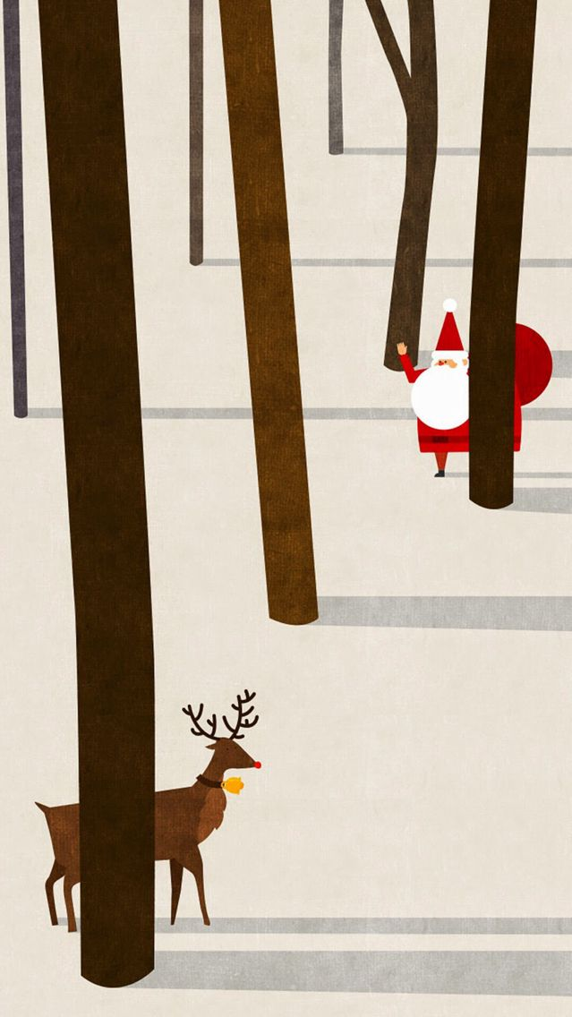 Already finding cute Christmas wallpapers for my phone!
