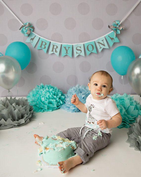 FIRST BIRTHDAY BANNER / 1st Birthday Boy / by SweetGeorgiaSweet