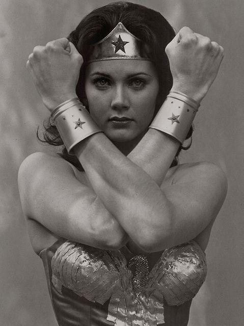 Lynda Carter as Wonder Woman, 1975.