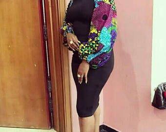 Robe à imprimé africain Ankara, Ankara robe, robe courte, robe africaine, robe africaine, en forme de Ankara robe, mode africaine, African Clothing.