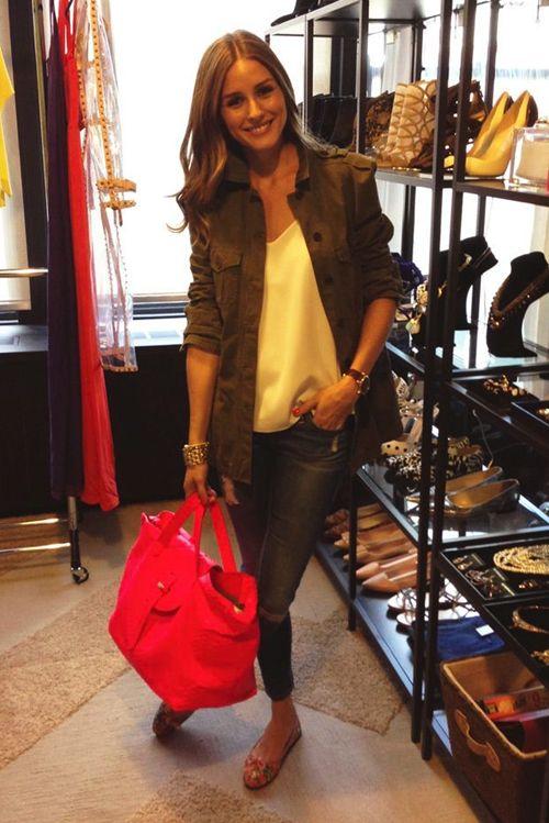 Modern Style Icon: Olivia Palermo - army jacket