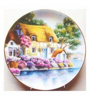 English Cottage Porcelain Plate