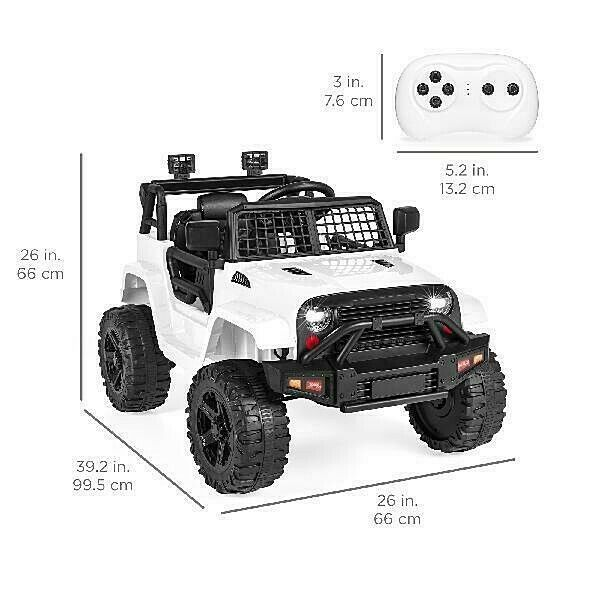 Ride On Toys 12V Kids Ride-On Jeep Car w/ Parent Remote
