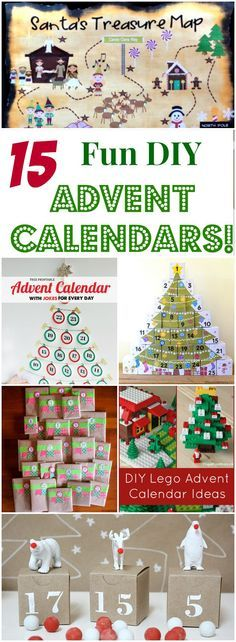 Super fun!! 15 DIY Advent Calendars for Kids! A collection of incredibly fun and interactive Christmas Countdowns you can make at home!