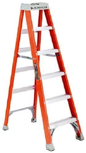 Handyman Fiberglass Ladder 6 FOOT Louisville Step Scaffold Platform Heavy Duty #Louisville1