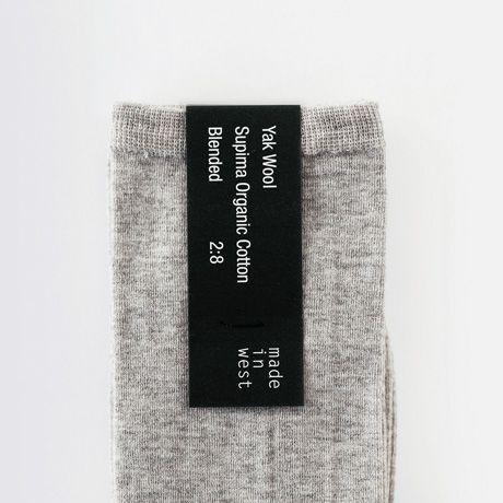 ヤクウール&スーピマコットン| yak ソックス (Ladies) - made in west online store