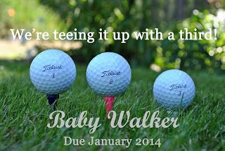 We're expecting announcement! Golf themed baby announcement.