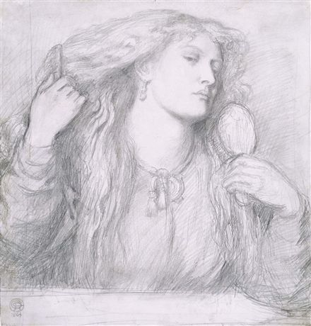 Woman combing her Hair, by Dante Gabriel Rossetti, 1864.