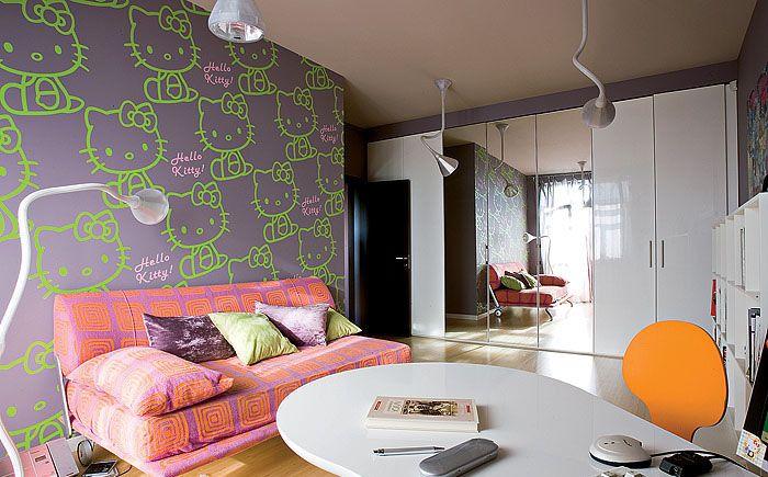 fusion  Чтобы квартира была именно в стиле фьюжн, используйте контрастные по цвету, виду, свойству, материалу вещи и растения.