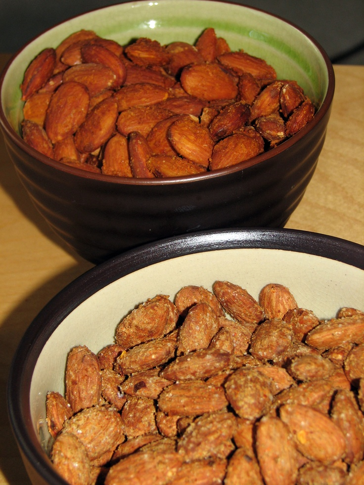 Spiced Almonds - Nuts make for great snacking, spice them up with these two versions.