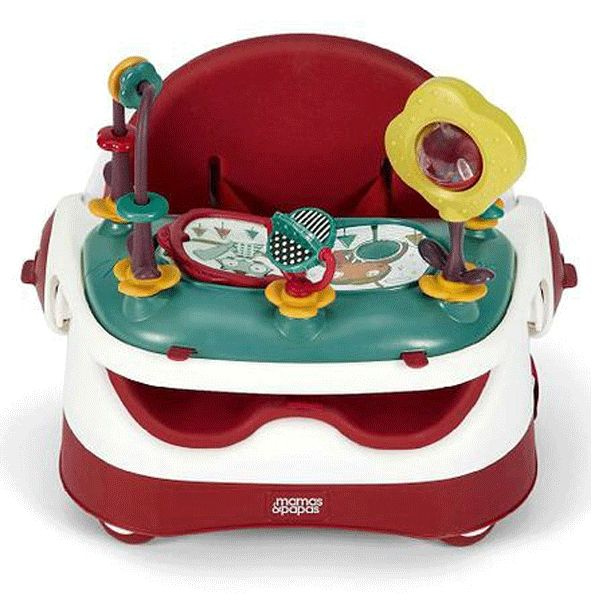 Baby Shop   Babies Products   Online Baby Store - Baby Kingdom - Mamas & Papas Baby Bud Booster Seat & Activity Tray Red