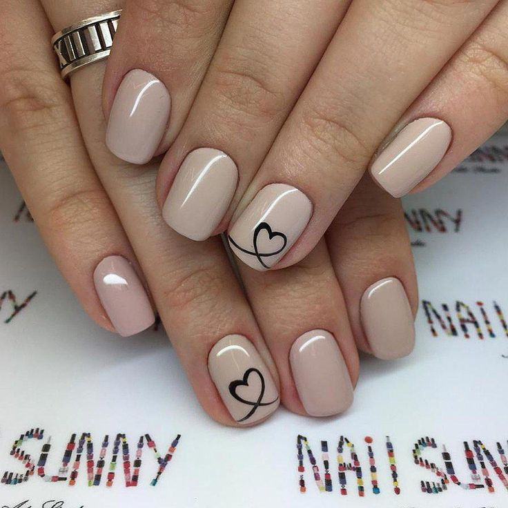 Mani nail design #shortnailsartdesign