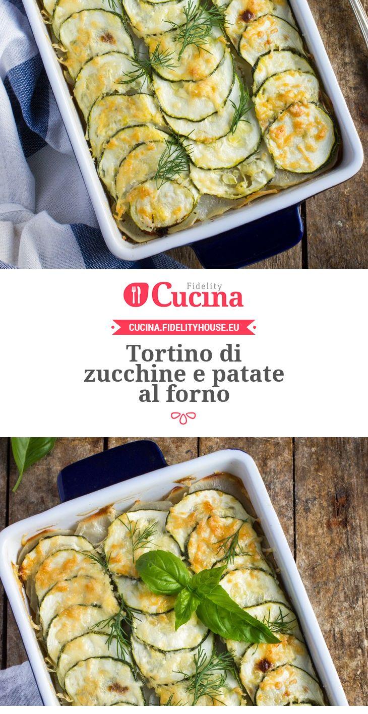 Tortino di #zucchine e #patate al forno