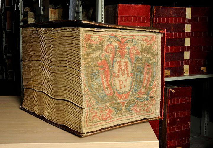 Vatican Secret Archives / heaviest item—book of the accounts of the House of Borghese (60 kilograms)