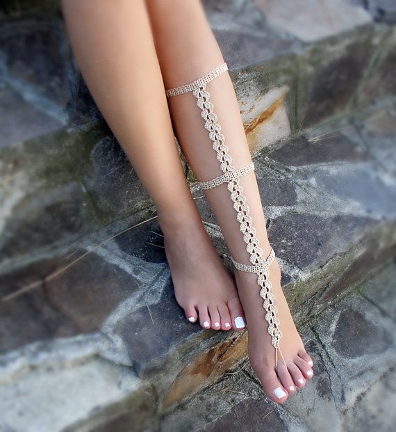 Hey, I found this really awesome Etsy listing at https://www.etsy.com/listing/458364268/tan-crochet-barefoot-sandal-crochet-leg