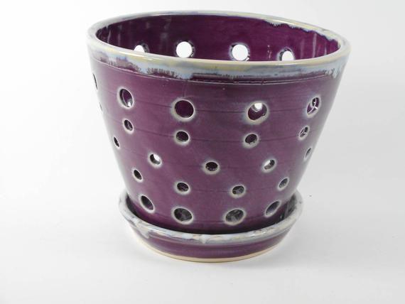 Ceramic Orchid Pot By Tamarack Stoneware Orchid Pot Stoneware Ceramics