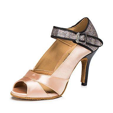 Sapatos de Dança(Marrom / Roxo) -Feminino-Personalizável-Latina / Jazz / Tênis de Dança / Moderna de 5413644 2017 por €33.31