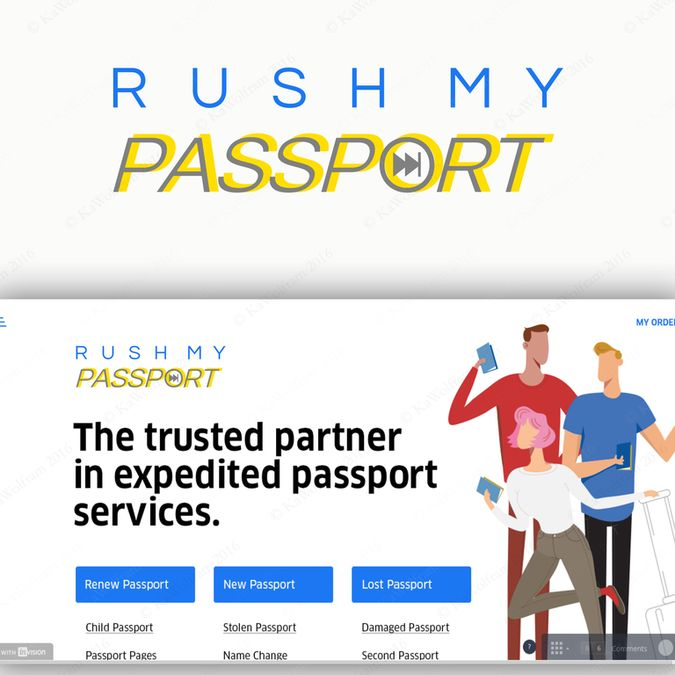 Freelance Rush My Passport New Logo by KaWolfram