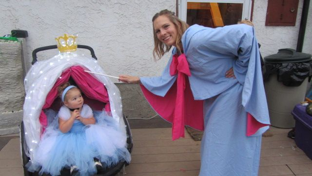 Cinderella/Carriage/Fairy DYI Godmother Halloween Costume