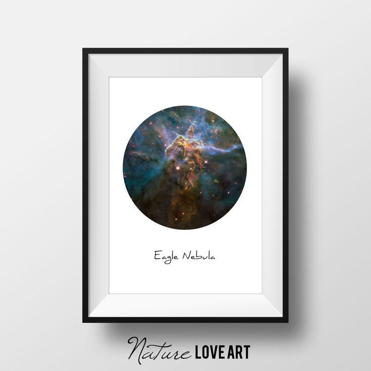 Nébuleuse de l'Aigle, photo de nébuleuse, photo de galaxie, photo de l'espace, tableau galaxie, tableau nébuleuse, décoration spatiale de la boutique NatureLoveArt sur Etsy