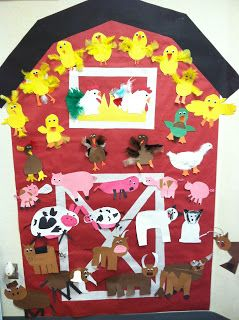 Mrs. Cates' Kindergarten: Farm...for the hallway, Jodi? We add animals to it as the kids create them? Maybe let them choose to do any animal they want to bring our farm unit to a close?