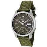 Seiko Men's SNK805 Seiko 5 Automatic Green Canvas Strap Watch