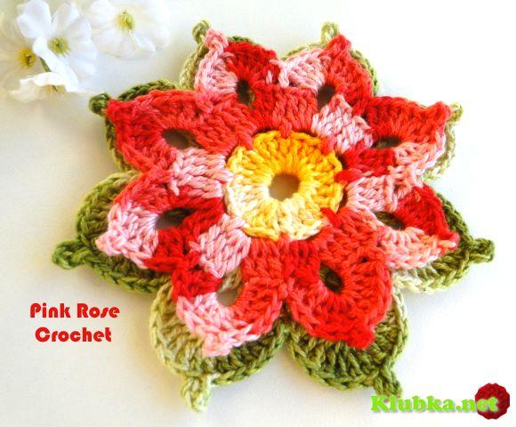Kvetinovým motívom háčkovanie