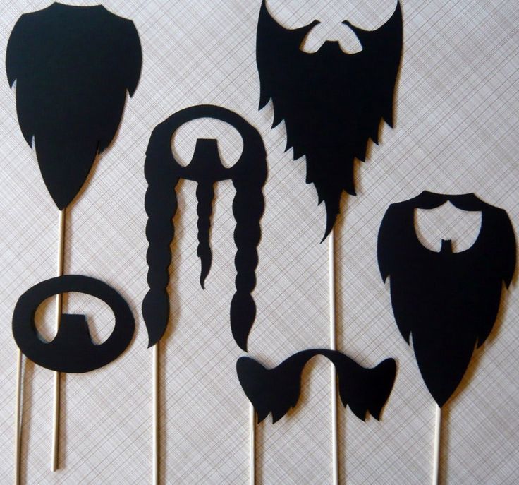 beard and mustache props for photo booth