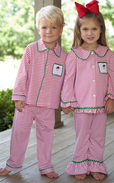TS Striped Santa Loungewear for Girls and Boys