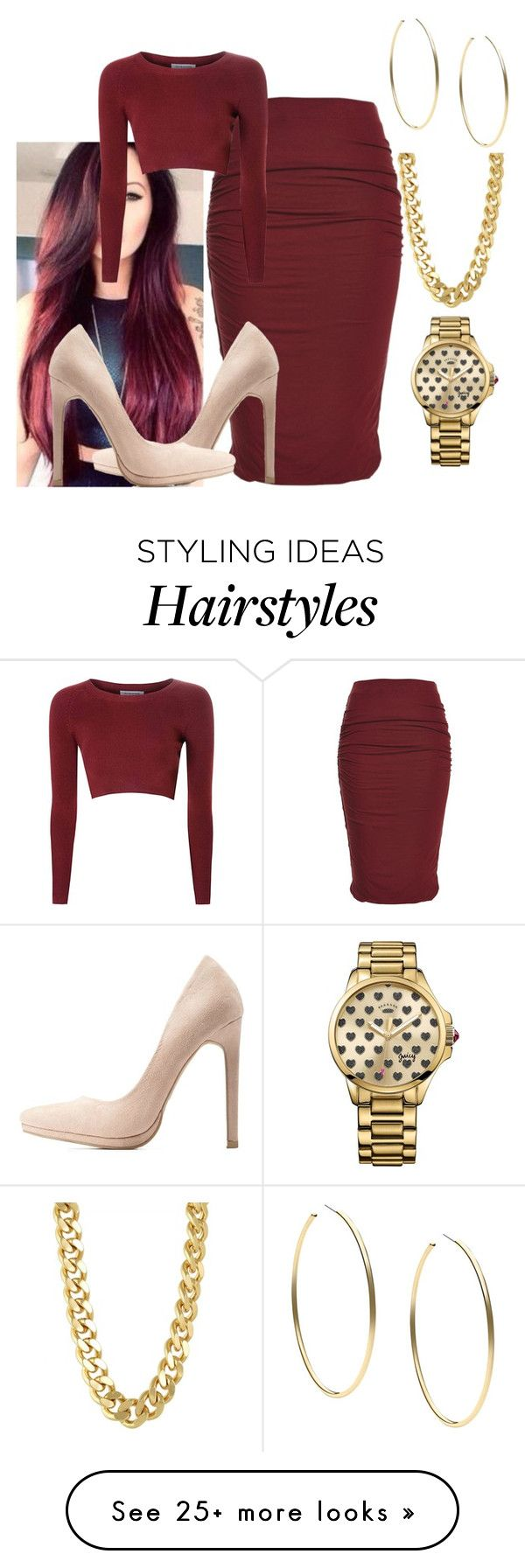 """""""Hair matches the theme"""" by riahh-926 on Polyvore featuring Glamorous, Charlotte Russe, Juicy Couture, CC SKYE and Michael Kors"""