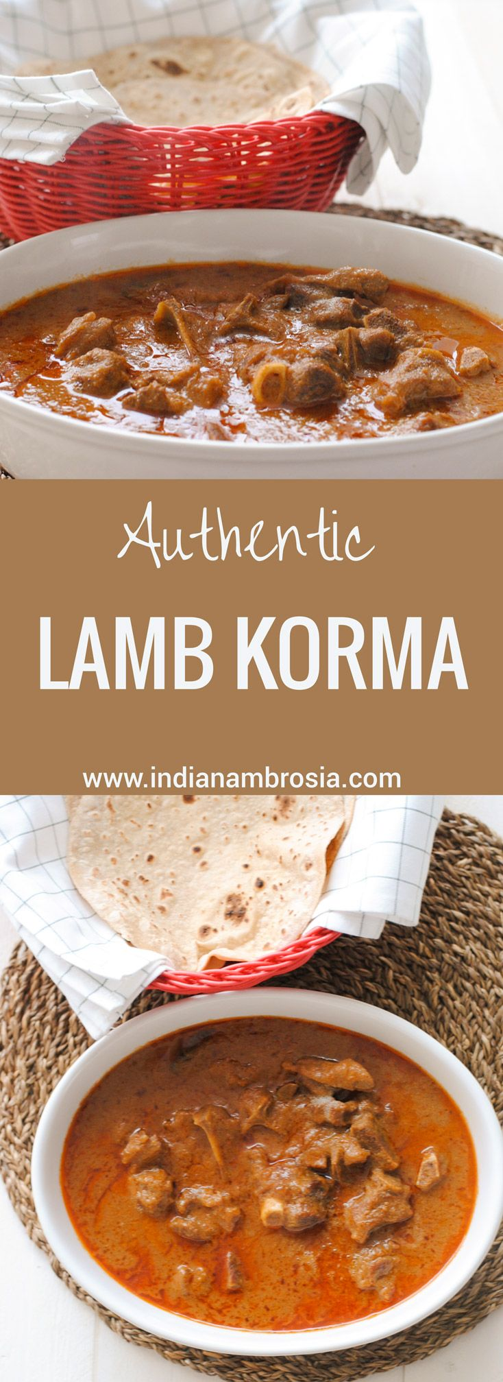 A lamb korma recipe that's as authentic as it gets.. right from the kitchens of North India. #muttonrecipes, #lamb, #authenticindianfood, #korma.
