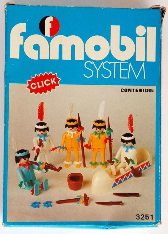Playmobil Set: 3251-fam - 5 Indios - Klickypedia
