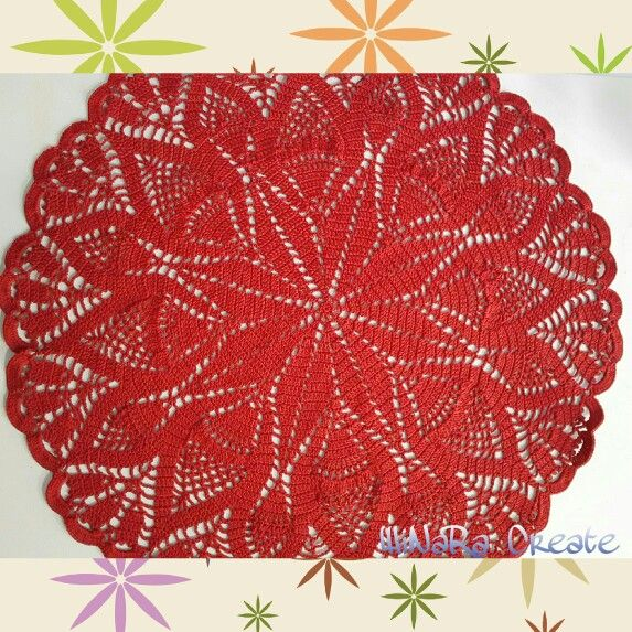 """Table runner..The pattern from """"Petit Collection"""" - Ondori.."""