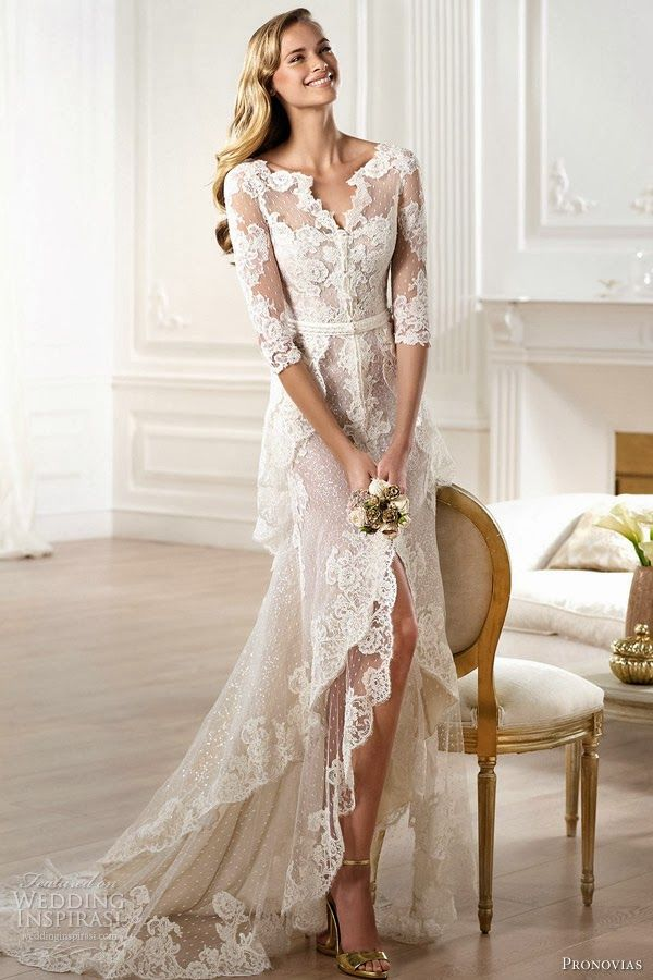 popular lace wedding gowns for 2014   ... lace-pronovias-2014-atelier-bridal-collection-yaela-lace-wedding-dress