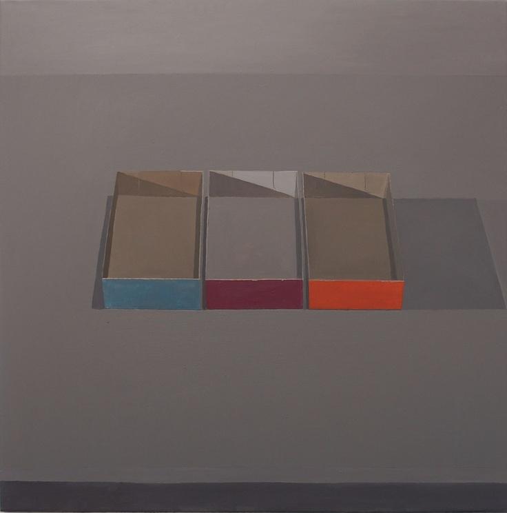 "Saatchi Online Artist: Stuart McHarrie; Oil, 2012, Painting ""3 paintboxes"""