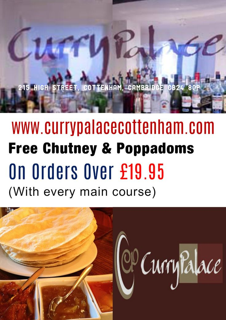 Order Indian takeaway food online at Curry Palace, Cottenham, CB24 near Rampton, Chittering, Landbeach, Impington, Histon, Willingham. See menus & offers.