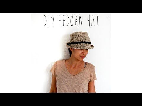 Como fazer crochê chapéu Fedora clássico
