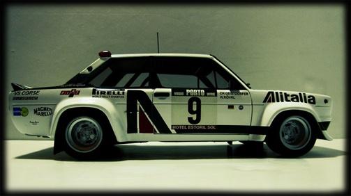 FIAT 131 ALITALIA RALLY  CAR DESIGN