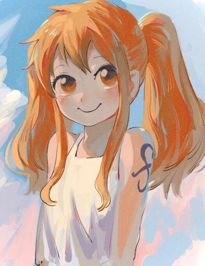 Little Sweet Nami 3 One Piece Nami One Piece Fanart One Piece Luffy
