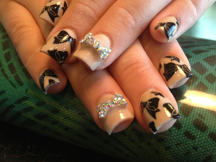 Acrylic Nail Designs With Bows Images Easy Nail Designs For