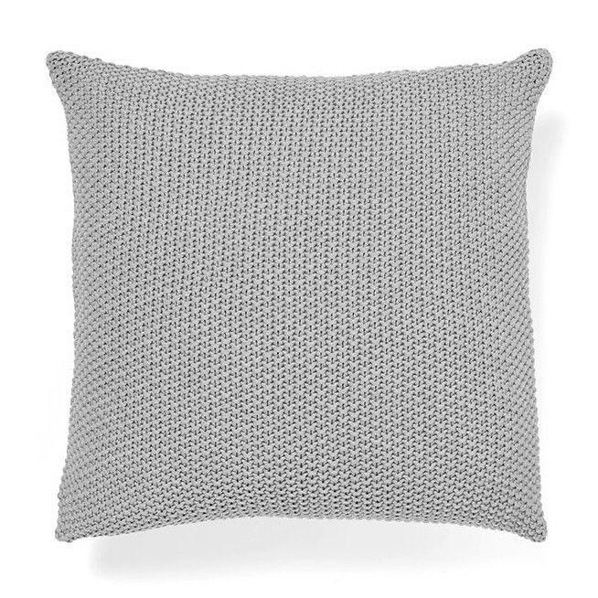 Aura Moss Stitch Cushion in Grey Marle
