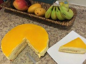 Mango Mousse Cake with Fresh Mangoes