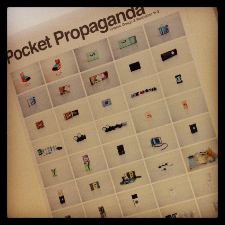 Group collaboration poster of our Pocket Propaganda featuring my own miniature caravan