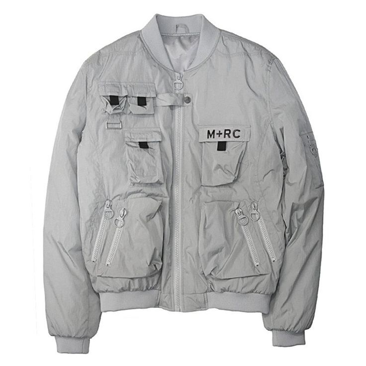 M+RC NOIR GREY NEW MULTIPOCKET BOMBERS JACKET
